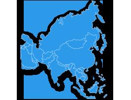 Karte zum Versand nach Asien mit Packlink